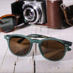 Shetland Matte Emerald // Tobacco Lenses