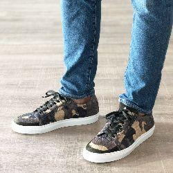 Matte Crocodile Sneakers in Bespoke Camo Pattern
